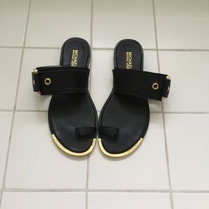 Michael Kors Black toe sandals with buckle